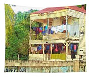 Happy Hour Washday Belize Tapestry