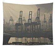 Harbor Cranes Tapestry