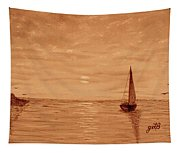 Harbor Sunset Tapestry