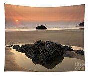 Hazy Oregon Sunset Tapestry
