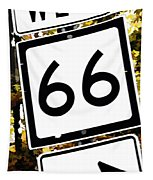 Heading West On Route 66 Tapestry