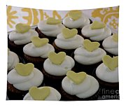 Heart Cupcakes Tapestry