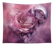 Heart Of A Rose - Mauve Purple Tapestry