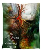 Heart Of Christmas Card Tapestry