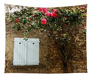 Heart Shutters And Red Roses Tapestry