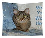 Heidi Cat Miss You Tapestry