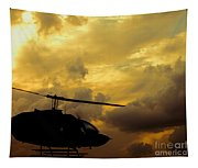 Helocopter In Clouds Tapestry