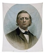 Henry Ward Beecher (1813-1887). American Clergyman. At Age 50: Steel Engraving, 19th Century Tapestry