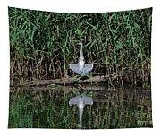 Heron Sunbath Tapestry