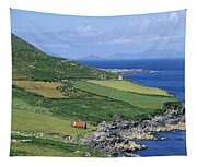 High Angle View Of A Coastline, Beara Tapestry