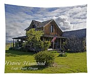 Historic 1870 Marvin Wood House With Text Tapestry