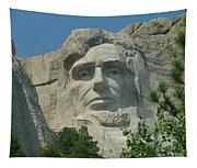 Honest Abe In Stone Tapestry