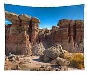 Hoodoos At Gooseberry Desert Wyoming Tapestry