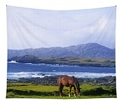 Horse Grazing In A Field, Beara Tapestry