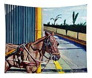 Horse In Malate Tapestry