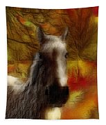 Horse On The Farm Tapestry
