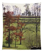 Horse On The Pasture Tapestry