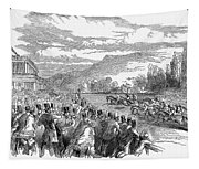 Horse Racing, 1850 Tapestry