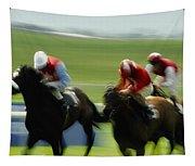 Horse Racing, Ireland Jockeys Racing Tapestry