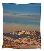 Horses And Moon Tapestry