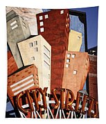 Hot City Streets Tapestry