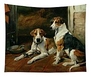 Hounds In A Stable Interior Tapestry