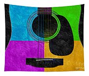 Hour Glass Guitar 4 Colors 3 Tapestry