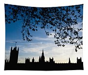 Houses Of Parliament Silhouette Tapestry