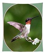 Hummingbird Photo - Light Green Tapestry