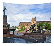 Hyde Park Fountain And St. Mary's Cathedral Tapestry