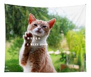 I Want Food Cat Tapestry