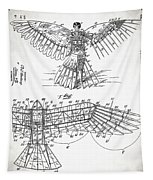 Icarus Patent 1889 Tapestry