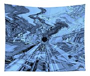 Ice Blue - Abstract Art Tapestry