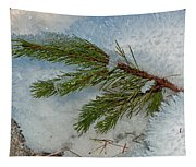 Ice Crystals And Pine Needles Tapestry