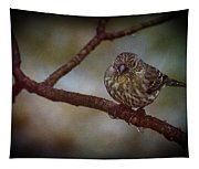 Ice Droplet Bird Tapestry