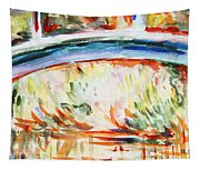 Impressions On Monet Painting Of Pond With Waterlilies  Tapestry