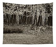 In A Yellow Wood Sepia Tapestry