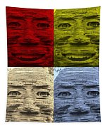 In Your Face In Colors Tapestry