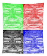 In Your Face In Negative Colors Tapestry