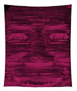 In Your Face In Negative  Hot Pink Tapestry