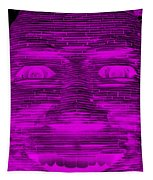 In Your Face In Negative Purple Tapestry