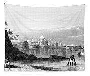 India: Taj Mahal, C1860 Tapestry