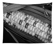 Indian Corn Black And White Tapestry