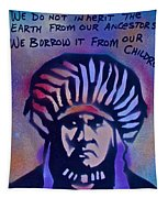 Indigenous Motto...blue Tapestry