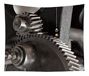 Industrial Gears Whith Oil Drops Tapestry