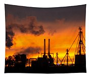 Industrial Strength Sunset Tapestry