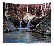 Infrared Waterfall Tapestry