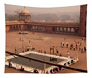 Inside Jama Masjid In The Huge Courtyard Tapestry