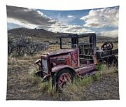 International Truck - Bannack Montana Ghost Town Tapestry