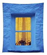Ireland Cottage Window At Night Tapestry